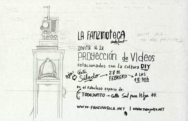 Proyecciones de la Fanzinoteca en Todojunto